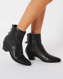 BLACK WOMENS FOOTWEAR SOL SANA BOOTS - SS202W419BLK