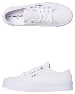 WHITE CANVAS WOMENS FOOTWEAR HUMAN FOOTWEAR SNEAKERS - LIFTWCNVS