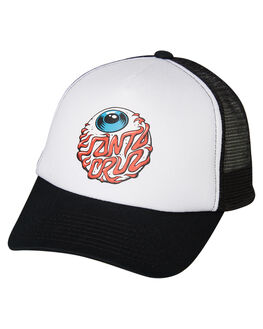 BLACK WHITE KIDS BOYS SANTA CRUZ HEADWEAR - SC-YCA9207BLKWH