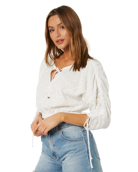 ANTIQUE WHITE WOMENS CLOTHING TIGERLILY FASHION TOPS - T602033AWT