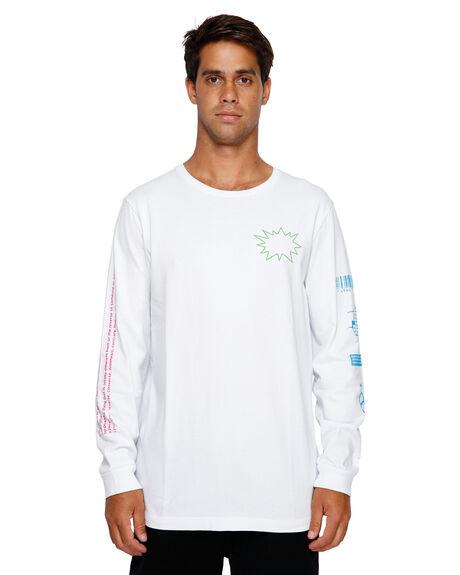 WHITE MENS CLOTHING RVCA TEES - RV-R191092-WHT