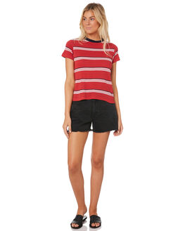 RED WOMENS CLOTHING ROLLAS TEES - 12828RED