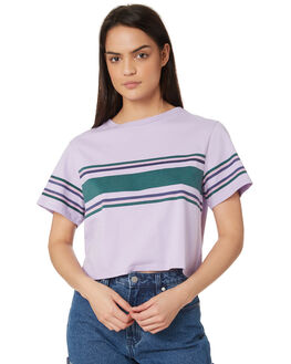 MULTI STRIPE OUTLET WOMENS SWELL TEES - S8182003MULST