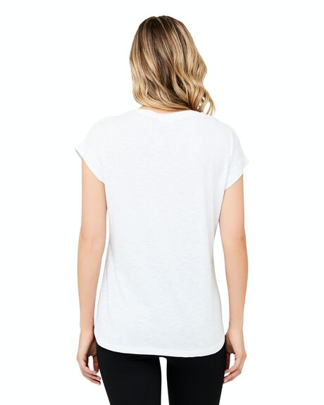 WHITE WOMENS CLOTHING RIPE MATERNITY TEES - S6243-WHITE-XS