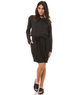 BLACK WOMENS CLOTHING ASSEMBLY SKIRTS - AW-S1730BLK