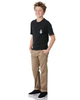 BLACK KIDS BOYS VOLCOM TEES - C5031875BLK