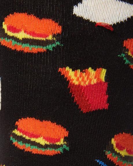 BLACK MENS CLOTHING HAPPY SOCKS SOCKS + UNDERWEAR - HAM01-9000BLK