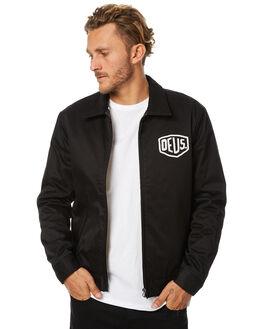 BLACK MENS CLOTHING DEUS EX MACHINA JACKETS - DMW56124BLK