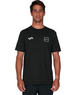 BLACK MENS CLOTHING RVCA TEES - RV-R307043-BLK