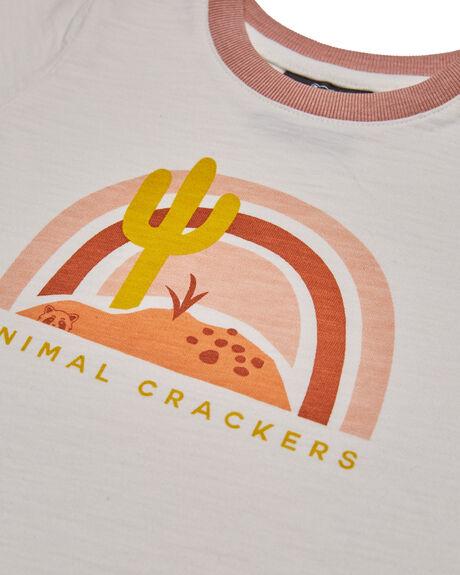 WHITE KIDS GIRLS ANIMAL CRACKERS TOPS - 3480021WHT