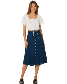 MORROCAN BLUE WOMENS CLOTHING RUE STIIC SKIRTS - SA19-4-MB