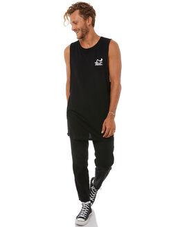 BLACK MENS CLOTHING FEAT SINGLETS - FTMTGRE01BLK