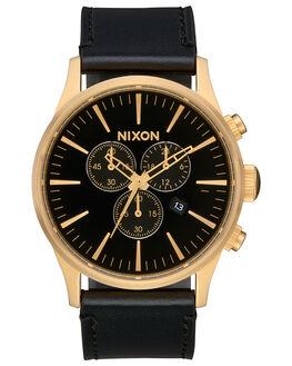 GOLD BLACK BLACK MENS ACCESSORIES NIXON WATCHES - A405-2639