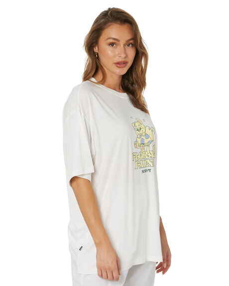 WASHED WHITE WOMENS CLOTHING MISFIT TEES - MT115002WWHT