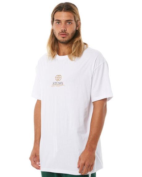 WHITE MENS CLOTHING STUSSY TEES - ST081003WHT