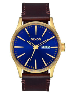 POLISHED GOLD NAVY SUN MENS ACCESSORIES NIXON WATCHES - A1053320-00