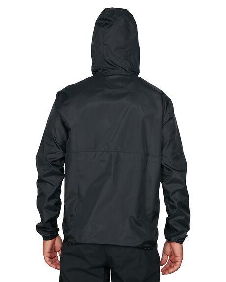 BLACK MENS CLOTHING RVCA JACKETS - RV-R305434-BLK