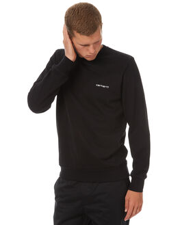 BLACK WHITE MENS CLOTHING CARHARTT JUMPERS - IO229178990