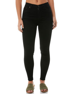 BLACK STONE WOMENS CLOTHING ZIGGY JEANS - ZW-1257BLK