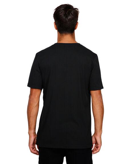 BLACK MENS CLOTHING RVCA TEES - RV-R191050-BLK