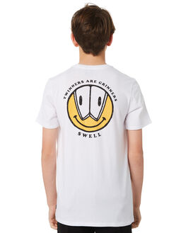 WHITE KIDS BOYS SWELL TOPS - S3184019WHITE
