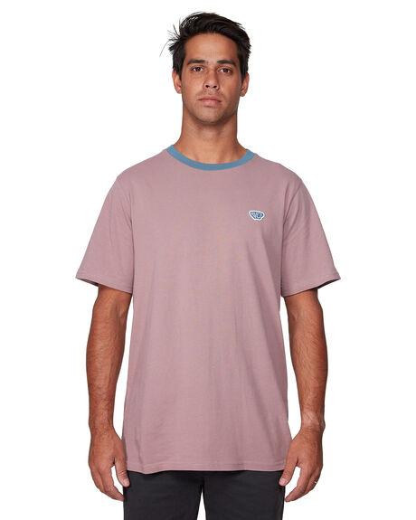DUSTY RED MENS CLOTHING RVCA TEES - RV-R107041-DYR
