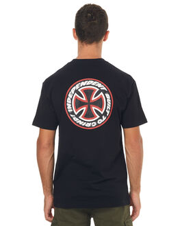 BLACK MENS CLOTHING INDEPENDENT TEES - IN-MTD7153BLK