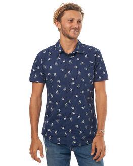 FEDERAL BLUE MENS CLOTHING RVCA SHIRTS - R372182AFBLU