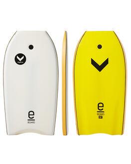 WHITE YELLOW SURF BODYBOARDS HYDRO BOARDS - EB17-HYD-38WYEL