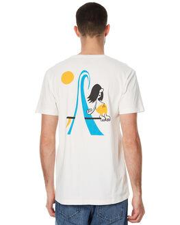 VINTAGE WHITE MENS CLOTHING DEUS EX MACHINA TEES - DMP71183AVWHT