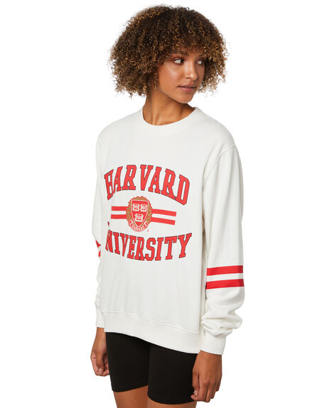 VINTAGE WHITE WOMENS CLOTHING NCAA HOODIES + SWEATS - NCHU0028VWHITE