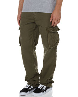 OLIVE MENS CLOTHING ELEMENT PANTS - 134243OLI