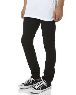JET BLACK MENS CLOTHING ZOO YORK PANTS - ZY-MPNC001JBLK