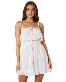 WHITE WOMENS CLOTHING THE HIDDEN WAY DRESSES - H8202443WHITE