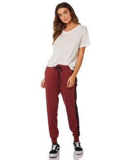 BURGUNDY WOMENS CLOTHING SILENT THEORY PANTS - 6033025-BURG