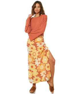 GOLDEN WOMENS CLOTHING AFENDS SKIRTS - W191903GOL