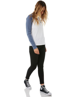 DEEP BLUE WOMENS CLOTHING VOLCOM TEES - B0111875DPB