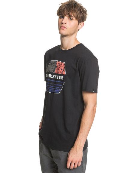 BLACK MENS CLOTHING QUIKSILVER TEES - EQYZT05765-KVJ0