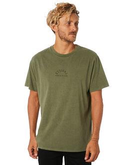ARMY GREEN MENS CLOTHING THRILLS TEES - TA9-102FAMGRN