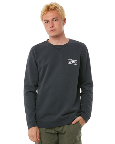 DIRTY BLACK MENS CLOTHING BANKS JUMPERS - WFL0111DBL