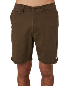 OLIVE GREEN MENS CLOTHING BANKS SHORTS - WS0083OGR