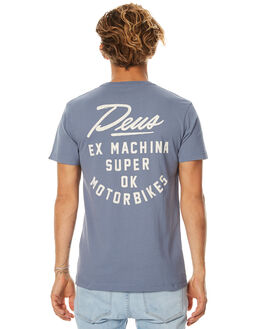 STEEL BLUE MENS CLOTHING DEUS EX MACHINA TEES - DMF71826ASBLU