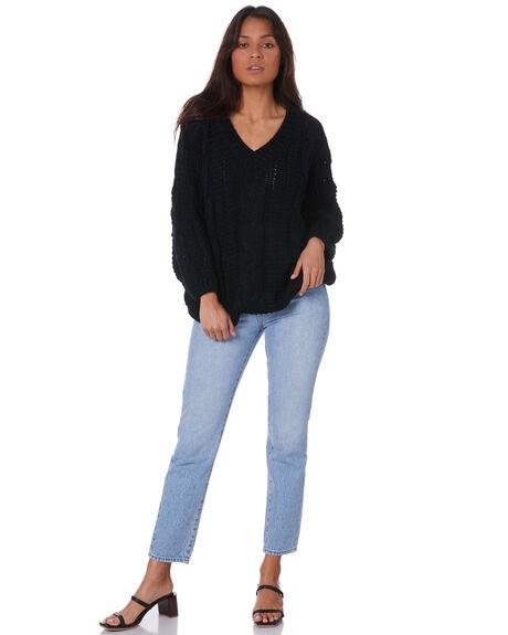 BLACK WOMENS CLOTHING SNDYS KNITS + CARDIGANS - SFK035BLK