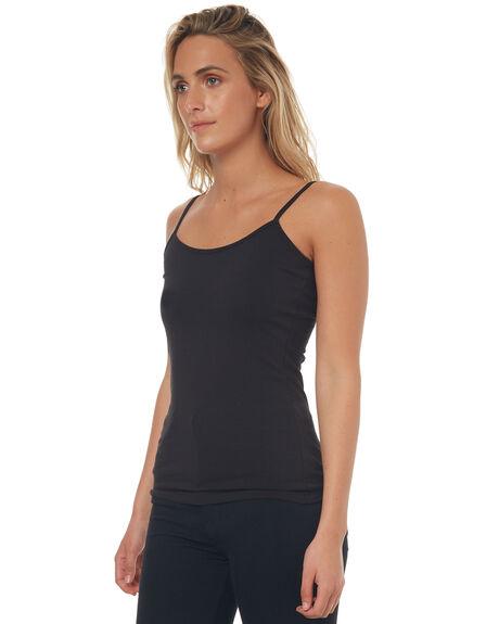 BLACK WOMENS CLOTHING BETTY BASICS SINGLETS - BB200BLK