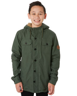 GREEN KIDS BOYS RIP CURL JUMPERS + JACKETS - KJKEW10060