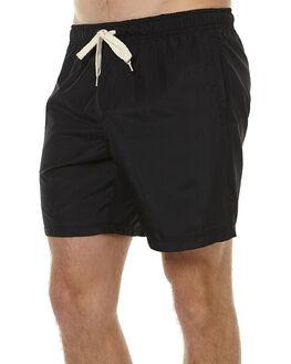BLACK MENS CLOTHING DEUS EX MACHINA SHORTS - DMP62002BLK