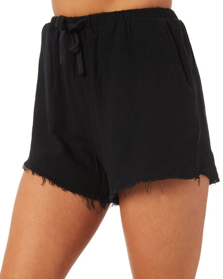 BLACK WOMENS CLOTHING SWELL SHORTS - S8171233BLACK