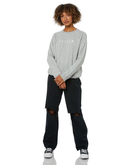 HEATHER GREY WOMENS CLOTHING VOLCOM JUMPERS - B4612075HGR