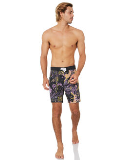 BLACK MENS CLOTHING MISFIT BOARDSHORTS - MT093602BLK