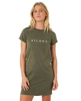 KHAKI WOMENS CLOTHING SILENT THEORY DRESSES - 6022049KHAK